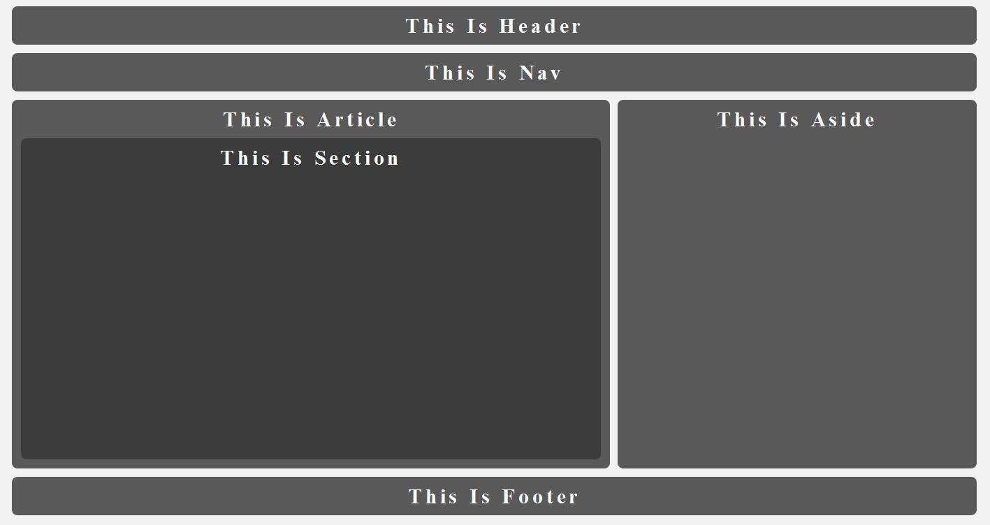 Html5 (新标签) 基本布局